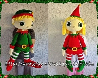 ELF Couple 32 inches - PDF amigurumi crochet pattern