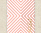 Personalized Spiral Notebook - Blush & Gold Foil Effect Monogram Notebook - By A Blissful Nest