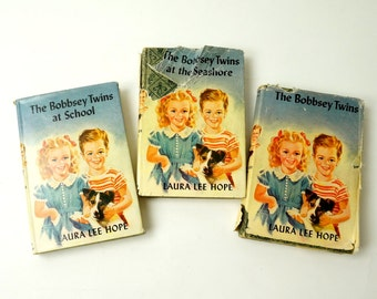 The Bobbsey Twins Book Set 1950 / Vtg Childrens Chapter Books