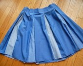 Women's skirt made from men's recycled dress shirts SALE was 110, now 28