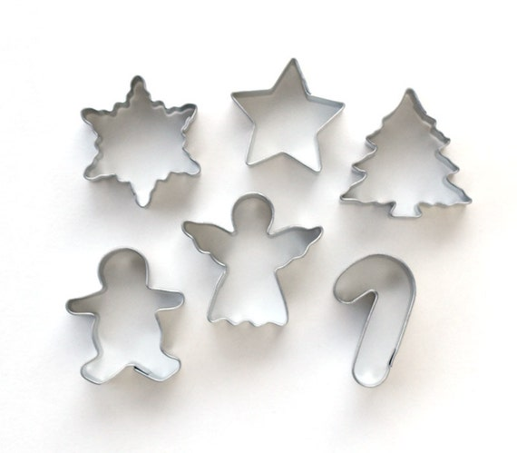 Mini Christmas Cookie Cutter Set, Mini Holiday Cookie Cutters, Small Christmas Cookie Cutters (Set of 6)