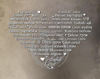 LOVE Languages Art Prints - 8.5 x 11 - Enchanted Sand Cave