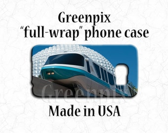 Disney monorail iPhone 7 case, EPCOT Galaxy S5 S6 cover, Disneyworld photography, full wrap iPhone 6 Plus accessories, spaceship earth photo