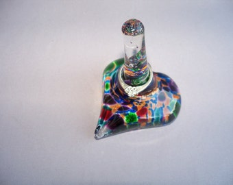 Hand Blown Art Glass Ring Holder