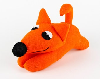 New year Christmas Gift Handmade Orange Sock Fox Stuffed Animal Doll Baby Toys