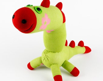 Christmas Gift Handmade Sock Dinosaur Stuffed Animal Doll Baby Toys Children New Year gift
