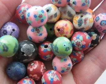 100 Polymer clay beads B160 - SALE 50% OFF