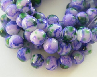 106 Purple glass beads B170