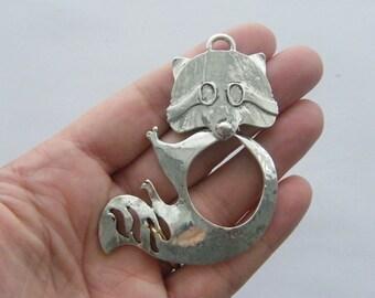1 Raccoon pendant tibetan silver A229