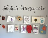 Personalized Masterpieces Script Decal - Children Artwork Display Decal - Custom Script Name - Large 2