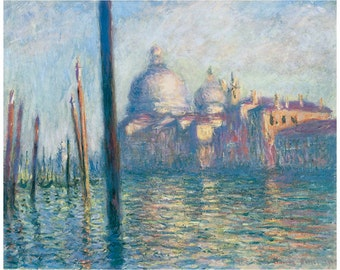 Wooden jigsaw puzzle. GRAND CANAL VENICE Italy. Claude Monet. Impressionist. Wood, handcut, handcrafted, collectible. Bella Puzzles.