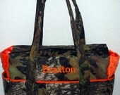 Mossy Oak Breakup Camo Baby Orange Fancy Diaper Bag-Ready to Ship~Can Be Monogrammed-Last one