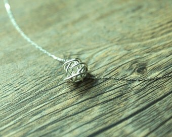 Sterling Silver Wire Ball Pendant - made to order
