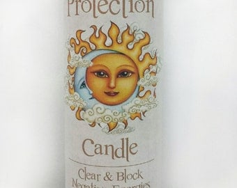 IntuitiveGoddess Protection Black Fixed Spell Candle for Banishing, Clearing Negative Energy, Shielding & Repelling against Negativity