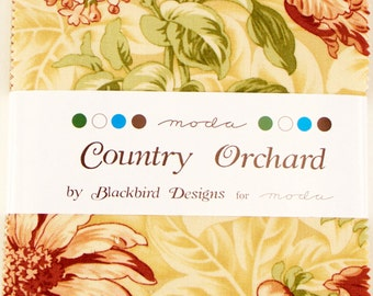 "COUNTRY ORCHARD Charm Pack by Blackbird Designs for Moda Fabrics 2750PP 42 5"" Fabric Squares"