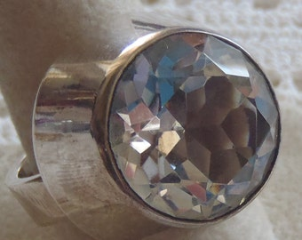 Vintage Ring Sterling Silver Alton Rock Crystal Size 8