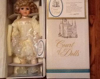 Porcelain Doll Allison Court of Dolls by Jenny Gorgeous Victorian Dress MIB