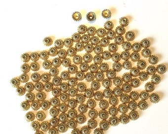 Gold Bead Caps 110 Findings for jewelry making supplies destash