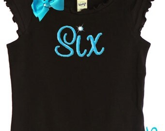 Custom Boutique Personalized Fancy Birthday Number Tee Shirt Tank Onesie Design Your Own