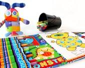 Scary Monsters colorie artiste cas, prêt à expédier, Crayon pochette, portefeuille Art, coloriage fourre-tout, organisateur de colorie, jouet à la main, cas de coloriage