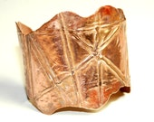 Fold Formed Copper Cuff Bracelet - Metalwork - Unique Jewelry - OOAK - Rustic - Hand Crafted