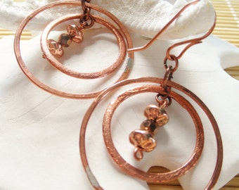 35mm Copper Chandelier Earrings