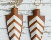 Buffalo Bone Arrowhead Earrings | Nature Inspired | One of a Kind | Arrowhead Jewelry | Statement Earring | Custom Handmade | Tribal Jewelry