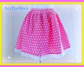 Ladies Minnie Mouse inspired skirt - all sizes available -  Disney, vacation, parks, cruise wear, birthday, mommy & me