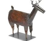 Art Metal Freestanding Deer Sculpture