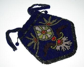 Lovely 1910s Art Nouveau / Art Deco Czech beaded purse