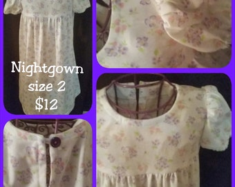 Flower Knit Nightgown