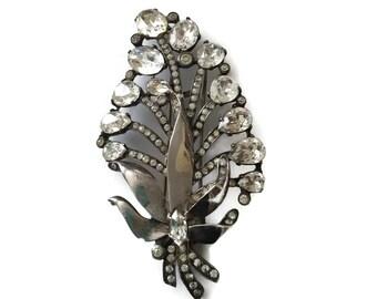 Sterling Silver Vintage  Fur Clip Signed Eisenberg Originals Rare Estate Jewelry