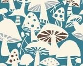 Organic Cotton Fabric- Monaluna- Westwood- TOADSTOOLS - low shipping