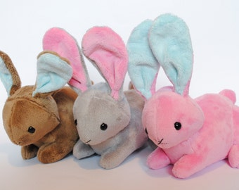 Bunny Plushie - Straight Up Ears - CHOOSE YOUR COLORS Made to order