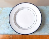 4 Dansk Allegro Plates Blue Lines Double Verge Niels Refsgaard Design Japan 10 3/4 Dinner Size Like New Perfect Condition