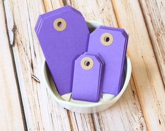 Purple AMETHYST Reinforced Luggage Tags