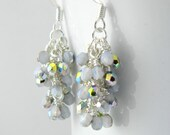 Opal Glass Sparkle Earrings