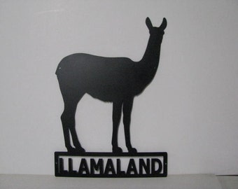 Llama 002 Custom Farm Sign Metal  Wall Art Silhouette