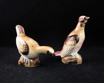 Vintage Quail Salt & Pepper Shaker Set Japan