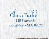 Custom RUbber stamp Self ink  Calligraphy Personalized WEDDING monogram names return address rubber stamp cute gift
