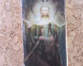 Quan Yin. Chinese Goddess. Domino pendant.  SALE