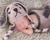 PATTERN Biscuit Puppy Hat and Diaper Cover Set Crochet PDF Pattern for 3 sizes