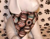 Kokopelli Pots Native American Handmade Dog Bandana