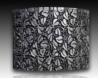 Leaves maze polymer clay cuff bracelet