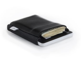 Nightcall - Slim minimalist elastic and leather wallet / cardholder designed by TGT (Tight)