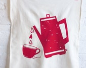 SALE Coffee Love Tea Towel, Red, Yellow or Black