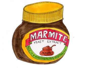 Marmite illustration print