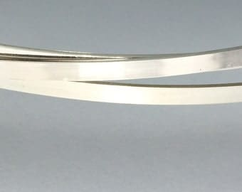 2 bracelet blanks, finished edges, 6 inch strip - 6 x 1 flat stock, , argentium sterling silver, great for wide cuffs, and rings