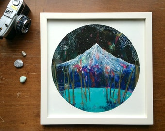 Phenomenon // 12 x 12 large eco-friendly wall art mountain print (frame not included)