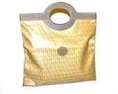 FENDI Vintage Tote Zucca Coated Canvas Epi Leather Foldable Clutch - AUTHENTIC -